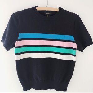 Retro stripe top